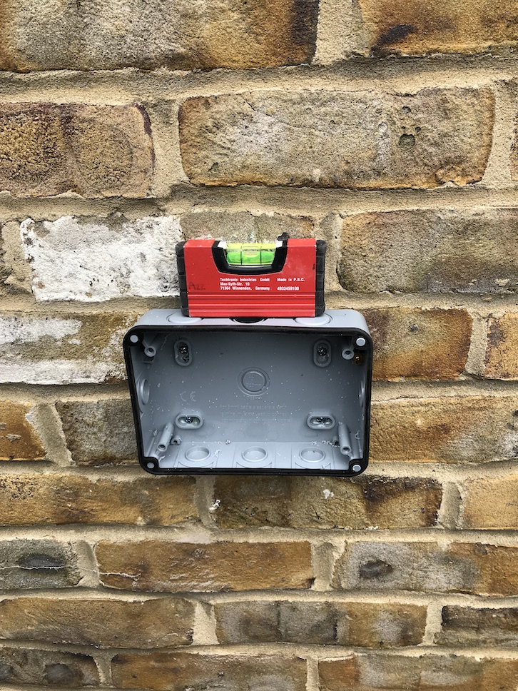 during - New Outdoor IP Rated Socket Supply and Fit