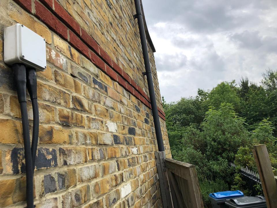 before - New Outdoor IP Rated Socket Supply and Fit