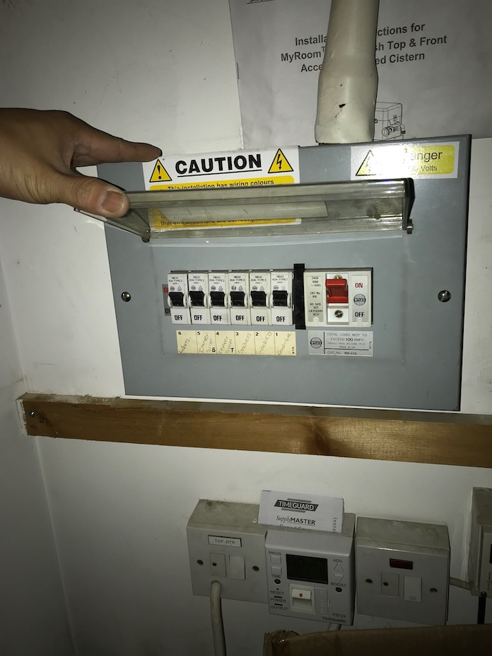 before - Old Fuseboard Replacement with New 16 Way Dual RCD Consumer Unit in London