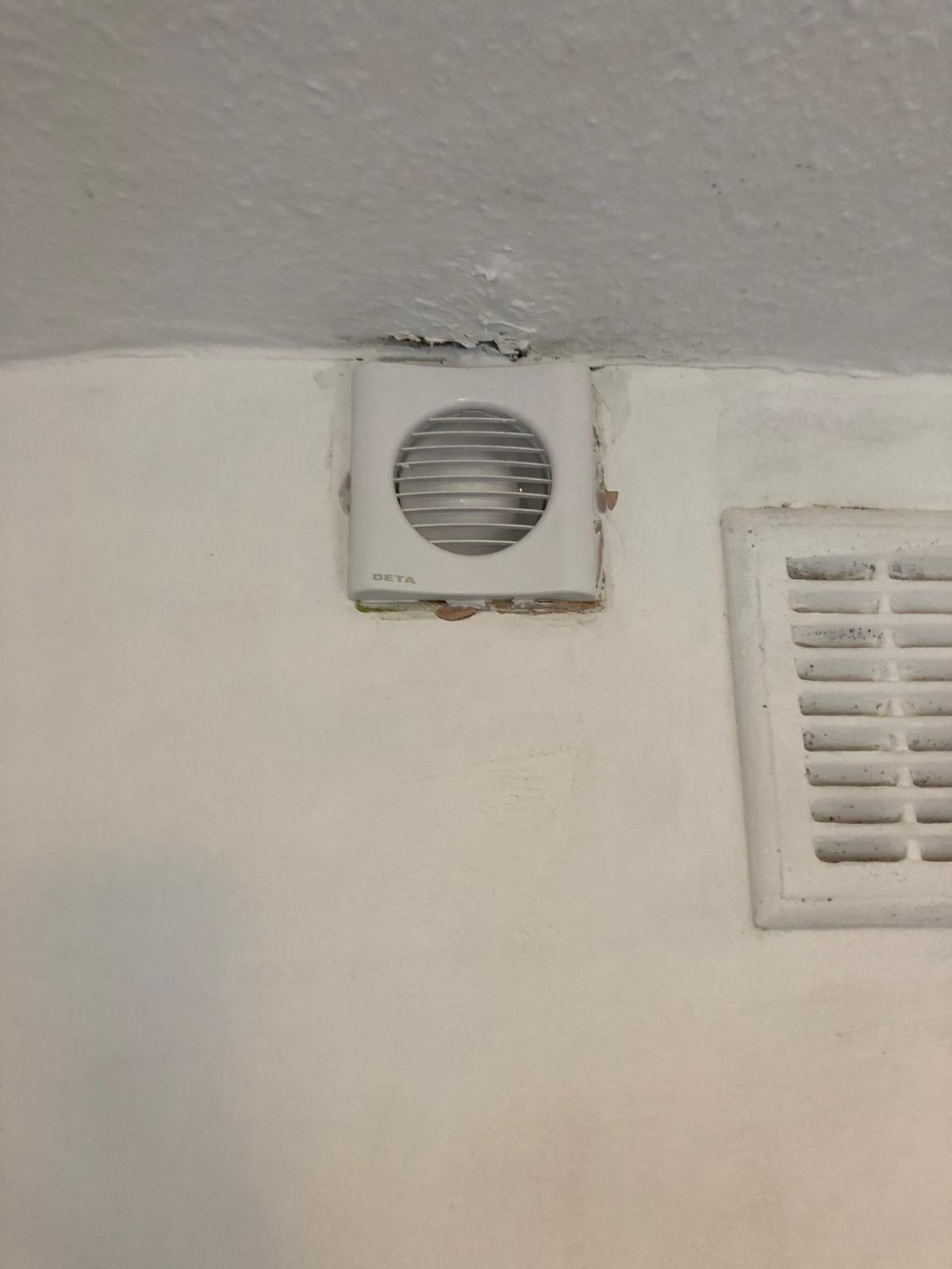 after - Bathroom Extractor fan supply and replacement